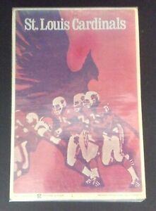 Fleer 1968 St. Louis Cardinals Big Signs Vintage NFL Memorabilia Football Card P