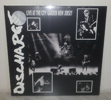 LP DISCHARGE - LIVE AT CITY GARDEN NEW JERSEY - CLEAR VINYL - NUOVO NEW