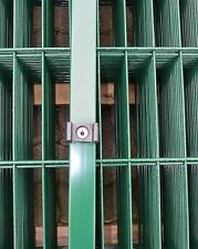 Pfosten Grün für Doppelstab-Mattenzaun Höhe 203cm + Zubehör / Gartenzaun Hoftor