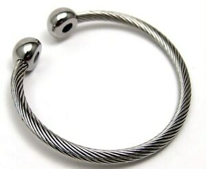 Twisted Bangle Stainless Surgical Steel Magnets Hypoallergenic