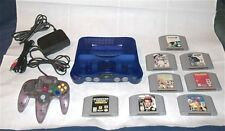 Nintendo 64 Grape System lot Console, 8 Classic N64 Games & Expansion Pak
