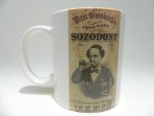 Vintage Coffee Mug Van Buskirk Sonzodont Teeth Cleaning Dentist Ad On Back