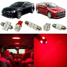 7x Red LED lights interior package kit for 2007-2014 Mitsubishi Lancer ML1R