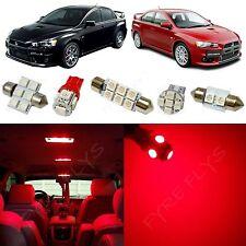 7x Red LED lights interior package kit for 2007-2014 Mitsubishi Lancer ML1R