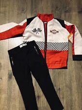 Pottery Barn Kids Race Car Driver Costume Size 4-6 Red Black Pants