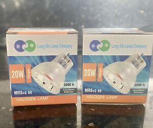 20w MR8+C 6v Halogen Bulbs X 2