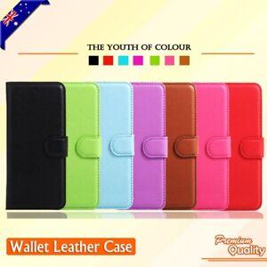 Wallet Leather Card Holder Flip PU Case Cover For Alcatel U5