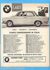 QUATTROR963-PUBBLICITA'/ADVERTISING-1963- BMW - LS LUXUS