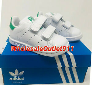 New Adidas Originals Stan Smith Size 4K Toddler Kids Sneakers Shoes Leather