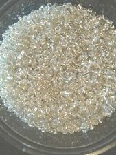 50g glass seed beads - Silver Silver-Lined (Clear S/L) - approx 2mm (size 11/0)