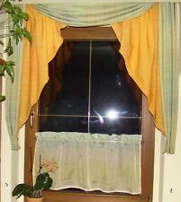 grünes Bogen Fenster + Scheibengardine ca.1,20 Breite