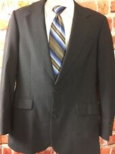 Brooks Brothers BROOKSEASE Mens Charcoal Sportcoat Sz 37R EUC (t7)