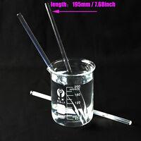 1x 3x 5x 10x Glass Stirring Rod for Lab Use Stir Stiring Stirrer Laboratory