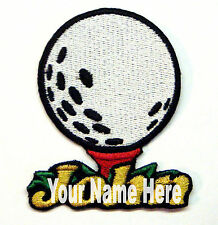 Golf Ball Custom Iron-on Patch With Name Personalized Free