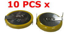 10 PCS x 3V CR2032 Button Cell Battery with 2 Solder Pins/tabs New