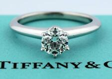0.48ct Tiffany & Co. Platinum Round Diamond Solitaire Ring G VS2 Box Papers!