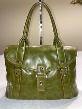 Charles & Keith Green Leather Flap Satchel Handbag Purse Bag