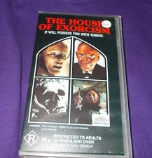 HOUSE OF EXORCISM VHS PAL FORCE VIDEO MARIO BAVA