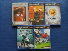 Sony PlayStation 2 PS2 Lot de 5 jeux Foot complets