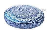 "35"" Indian Large Mandala Round Floor Cushion Cover Dog Seating Home Decorative"