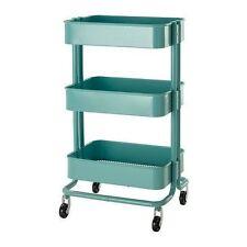 IKEA Raskog Turquoise Kitchen Cart Rolling Utility Caddy Shelf Storage RARE