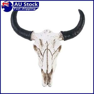 Resin Longhorn Cow Skull Head Wall Decorations Ornament 3D Figurines Crafts