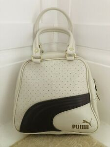 Vintage PUMA Bag Cream And Brown Brass Hardware EXCELLENT CONDITION