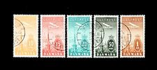 Denmark stamps, 1934 Luftpost, complete set Vf/Xf, Afa 216 - 220