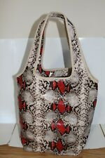New ESTEE LAUDER Faux Leather Snake Print HAND Tote Bag Women