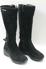 CESARE PACIOTTI women boots sz 7.5 Europe 38 black suede S6901
