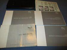 2002 NISSAN MAXIMA OWNERS MANUAL 02 OEM SET W/ CASE