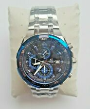 Casio EFR-539D Mens Edifice Blue Silver Chronograph Watch * BRAND NEW & BOXED *