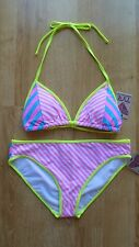 Brand new with tags TYR Huntington Beach size large pink/yellow stripes bikini