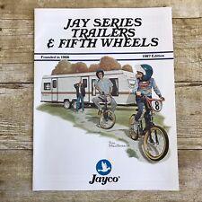 Vintage Jayco Motor Home Dealers Sales Brochure Camper Camping 1987 Trailers