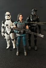 star wars black series cara dune, death trooper and sh figuarts first order exe