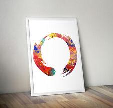 Zen Circle, print, poster, yoga, wall art, decor, inspirational, picture, gift