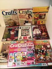 LOT Of 11 Magazines Crafts Cross Stitch Jewelry Crafting Auction Finds 702