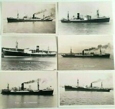 More details for clan line ships photo postcards x 6 - vintage shipping - merchant - cargo - boat