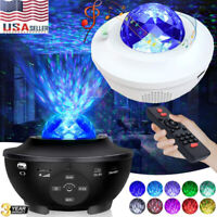 USB LED Galaxy Starry Night Light Projector 3D Ocean Star Sky Party Lamp Remote