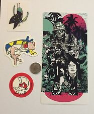 Tyler Stout Sticker Set of 4 different hard to get stickers Sold Out Rare Set 5