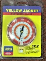 Yellow Jacket, Ritchie, Gauge REFRIGERATION 3-1/8 R134A, R404A, R407C 0-500