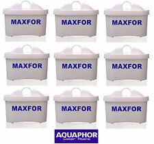9 maxfor Aquaphor filtre à eau pichet pitcher cartouches de remplacement taille standard