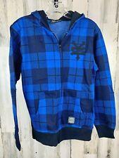 ZOO YORK Boys Unbreakable Blue Hoodie Sweatshirt Full Zip Size L 16-18 NWT