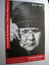 """Aleksandr Rodchenko- Original 1989 Serpentine Gallery Exhibition Poster 30""""x 20"""""""