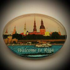Fridge Magnet Riga Latvia Glass Tourist Souvenir For Collection & Gift M901