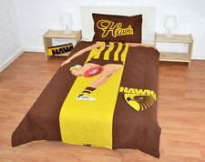 Hawthorn Quilt | Doona Cover Set | AFL | Hawks | Player | Reversible | Single