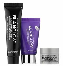 GLAMGLOW Set GRAVITYMUD Firming, VOLCASMIC & GALACTICLEANSE Travel Size Trio New