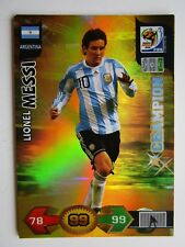 LIONEL MESSI  ARGENTINA  Champion 2010 Panini Adrenalyn World Cup