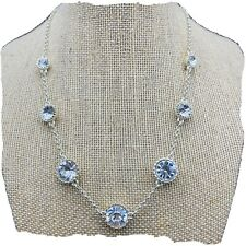 white house black market necklace With Rhinestones Silver