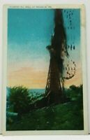 Flowing Oil Well at Franklin Pa to Hillsdale Michigan  Postcard H17